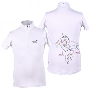 QHP Competitionshirt Milou Junior-0