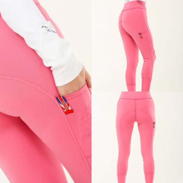 Chill Out Pull Up Leggings with Silicone Knee-1533