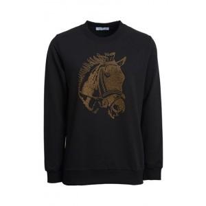 Montar Evie Sweatshirt Horse Head Rivets -0